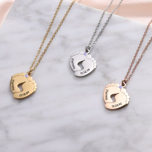 Baby Footprint Necklace for Mom