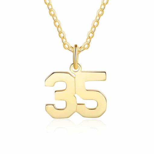 Baseball Chains With Numbers Gold