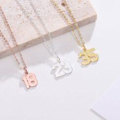 Baseball Number Necklace