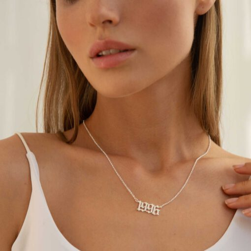 Birth Year Necklace Sterling Silver