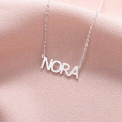 Block Name Necklace Sterling Silver