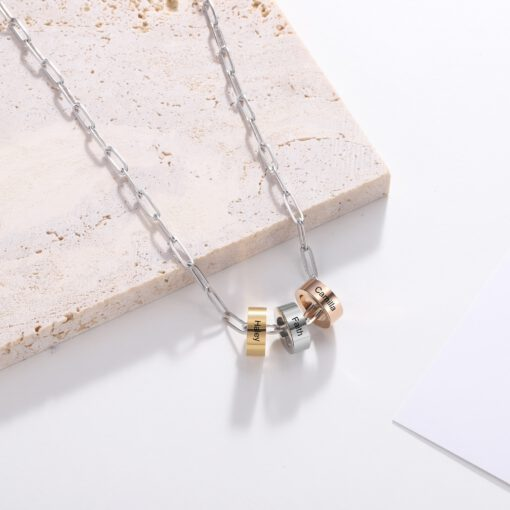 Charm Necklace with Names for Mom Girlfriend Image