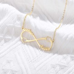 Couple Infinity Necklace Gold