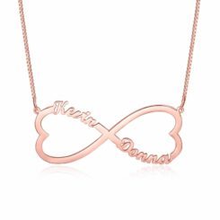 Couple Initial Necklace Gold Plated