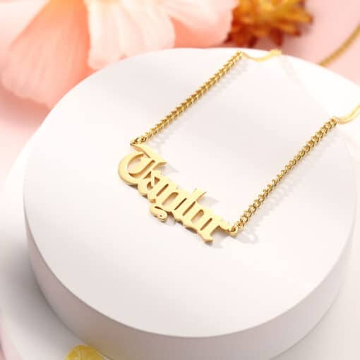 Curb Chain Name Necklace