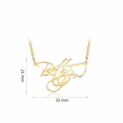 Cursive Letter Name Necklace