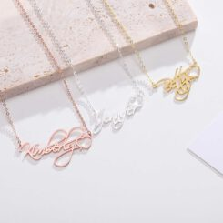 Cursive Name Necklace With Heart