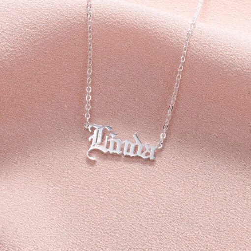 Custom Gothic Name Necklace