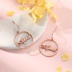 Custom Hoop Name Earrings
