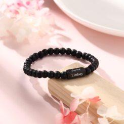 Custom Men Bracelet Black