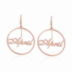 Custom Name Hoop Earrings