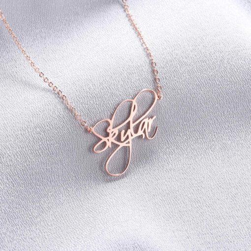 Custom Script Necklace