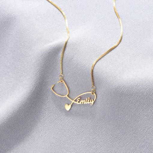 Custom Stethoscope Necklace - Custom Gift