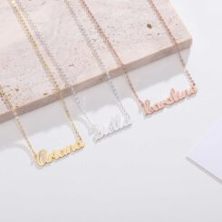 Customized Name Pendant Silver Gold Rose Gold