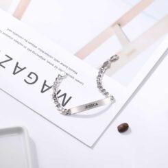 Engraved Medical Bracelets Silver
