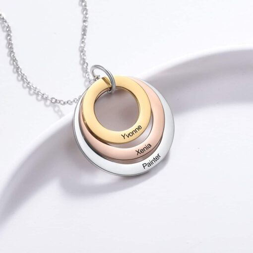 Family Name Necklace For Mom With Kids Names