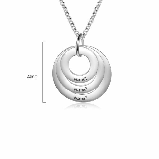 Family Necklace Linked Circle Necklace Size Materials