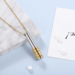 Family Necklace With Engraved Names And Dates