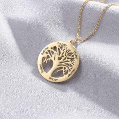 Family Tree Jewelry Gold