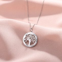 Family Tree Necklace Silver