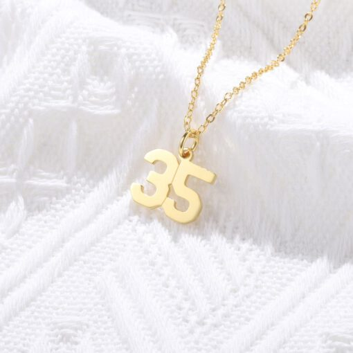 Football Number Necklaces