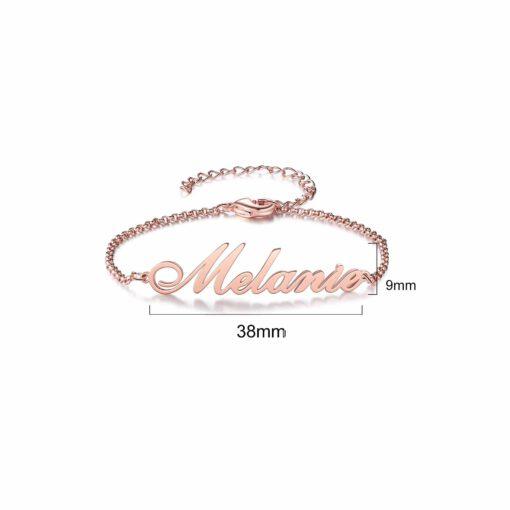 Custom Name Bracelet Sterling Silver