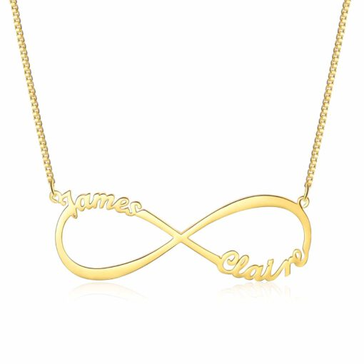 Gold Couple Infinity Name Necklace