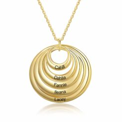 Gold Grandma Necklace with Grandkids Names