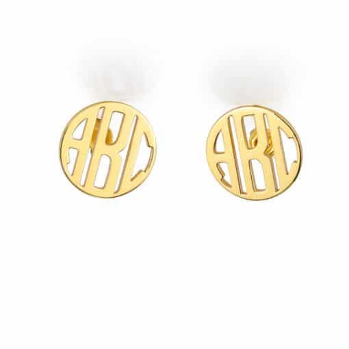 Gold Monogram Earrings