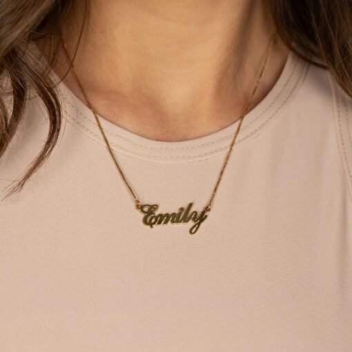 Gold Name Necklace Model