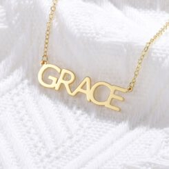 Gold Name Necklace With Capital Letters