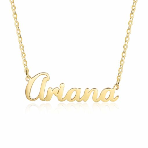 Gold Pendant With Name In English
