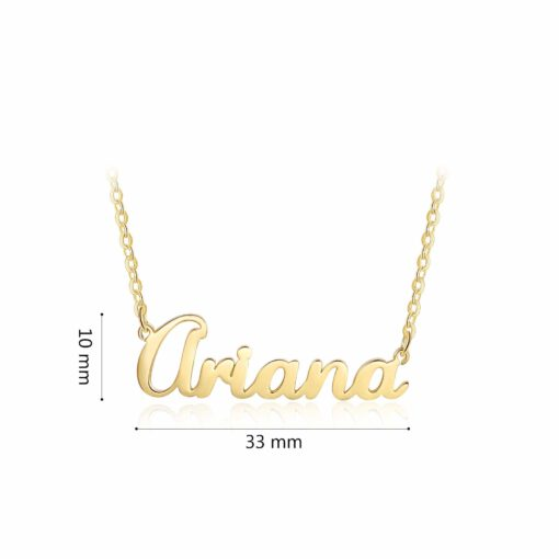 Gold Pendant With Name In English Size Material