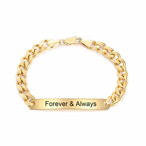 Gold Personalized Bracelet For Women