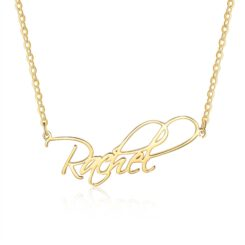 Gold Script Necklace