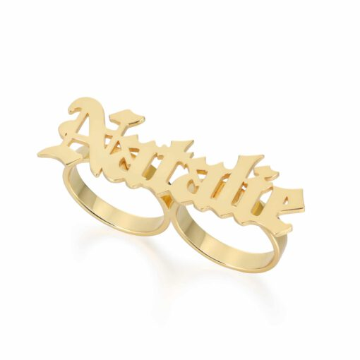 Gold Two Finger Ring