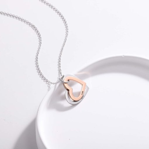 Heart Necklace for Mom - Personalized