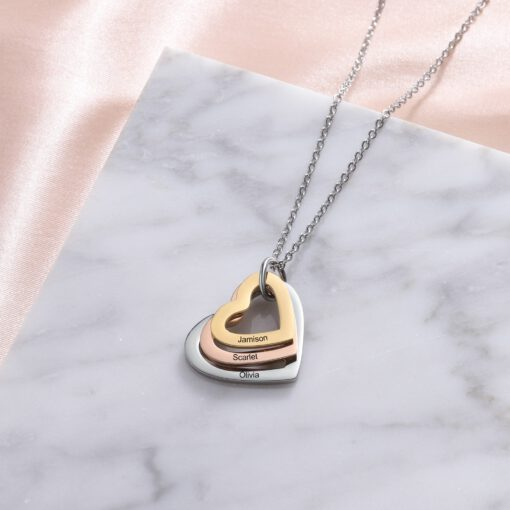 Heart Necklace Personalized Gifts for Mom