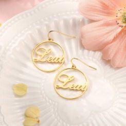 Hoop Earrings With Name Inside