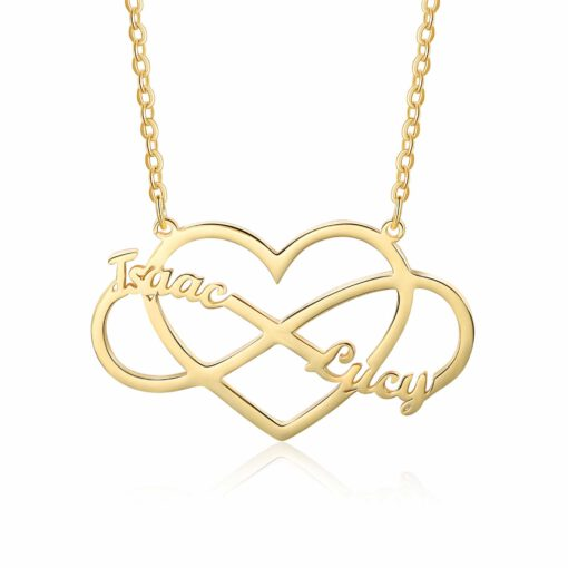 Infinity Heart Necklace Gold