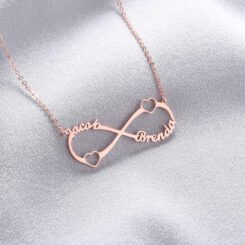 Infinity Sterling Silver Personalized Infinity Symbol Necklace Size Materialseart Necklace Rose Gold