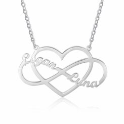 Infinity Heart Necklace Sterling Silver