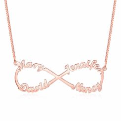 Infinity Name Necklace for Mom Rose Gold Image