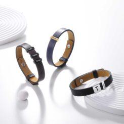 Mens Custom Leather Bracelet