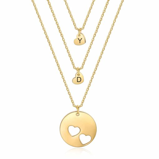 Mom Daughter Jewelry With Kids Names Gold