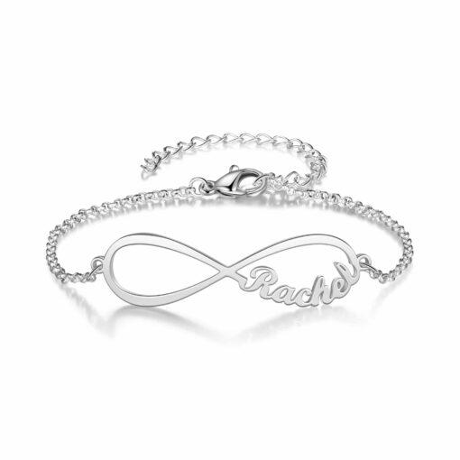 Mom Infinity Bracelet Sterling Silver