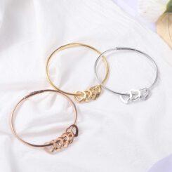 Mother Charm Bracelet Silver Gold Rose Gold