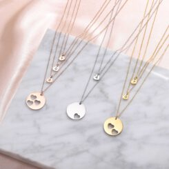 Mother Daughter Necklace Silver Gold Rose Gold