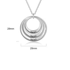 Mothers Circle Necklace Size Material