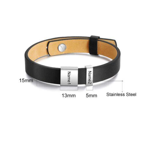 Name Bracelet For Men Size Materials